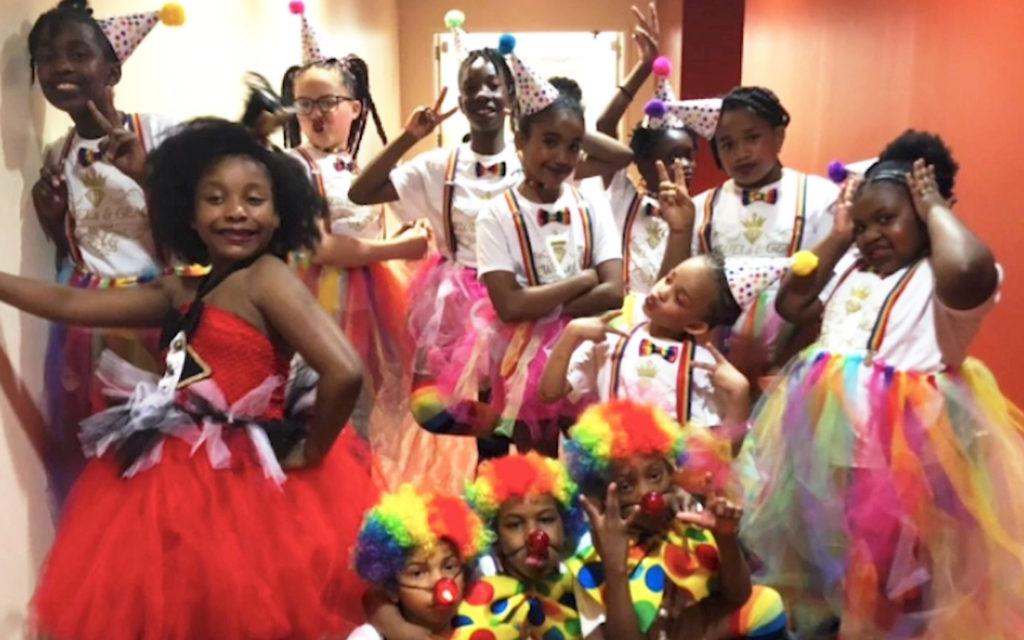 children dressed up in costumes